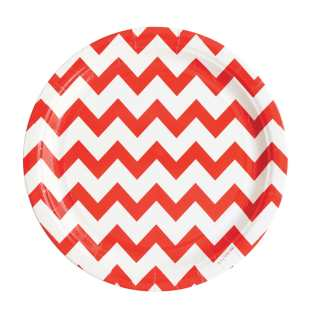 MY LITTLE DAY - ASSIETTE CHEVRON ROUGE