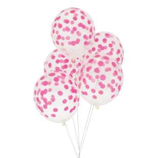 MY LITTLE DAY - 5 BALLONS CONFETTIS FUSHIA