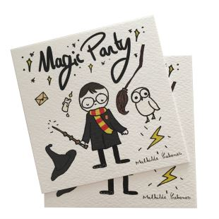 MATHILDE CABANAS - INVITATION ANNIVERSAIRE MAGIC HARRY X 6