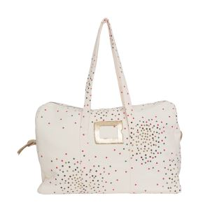 APRIL SHOWERS BY POLDER - SAC WEEK-END SMALL STARDUST VANILLA
