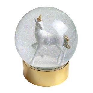 TALKING TABLE - BOULE DE NEIGE LICORNE