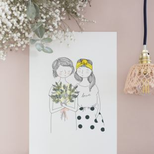 MY LOVELY THING - AFFICHE SOEURS MIMOSA - A3