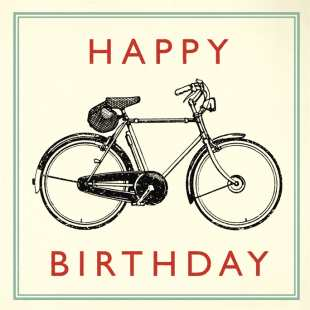 REX - CARTE BIRTHDAY BICYCLE
