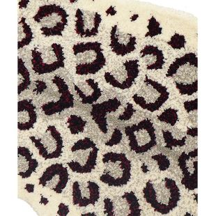 DOING GOODS - TAPIS LÉOPARD OFF WHITE