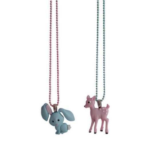 COLLIER BFF LAPIN & BAMBI