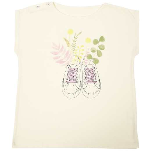 TEE SHIRT BASKET FLEURIES