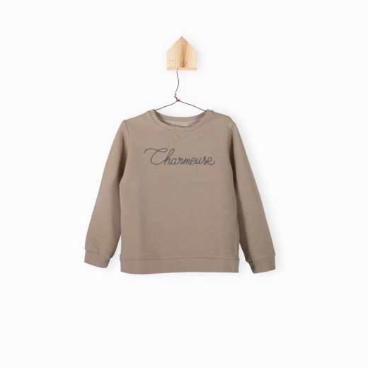 SWEAT CHARMEUSE TAUPE