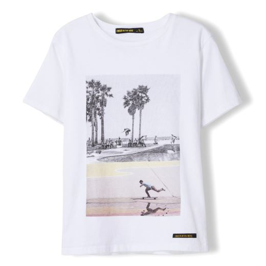 TEE SHIRT DALTON WHITE SUMMER SKATE