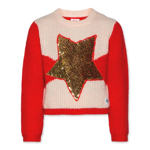 PULL MOHAIR STAR RED