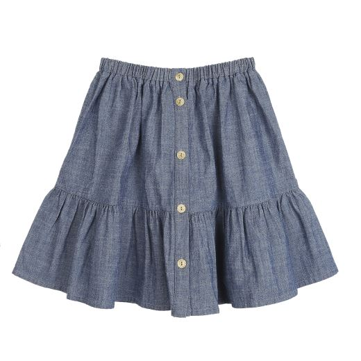 JUPE HIVER VOLANTS CHAMBRAY