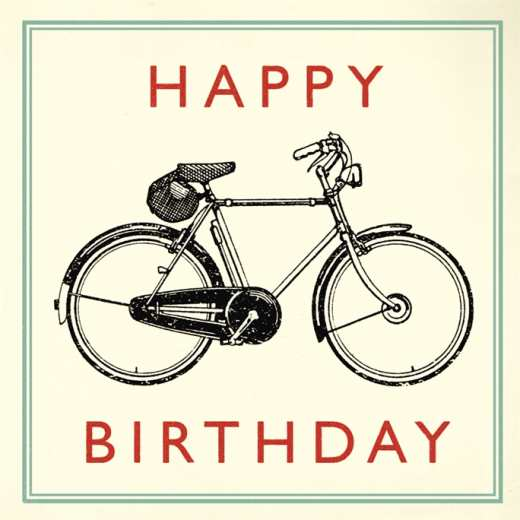 CARTE BIRTHDAY BICYCLE
