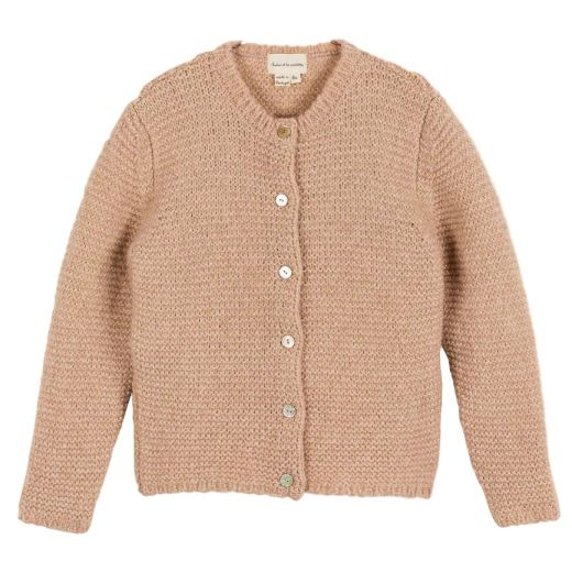 CARDIGAN TRICOT POINT MOUSSE LUREX POUDRE