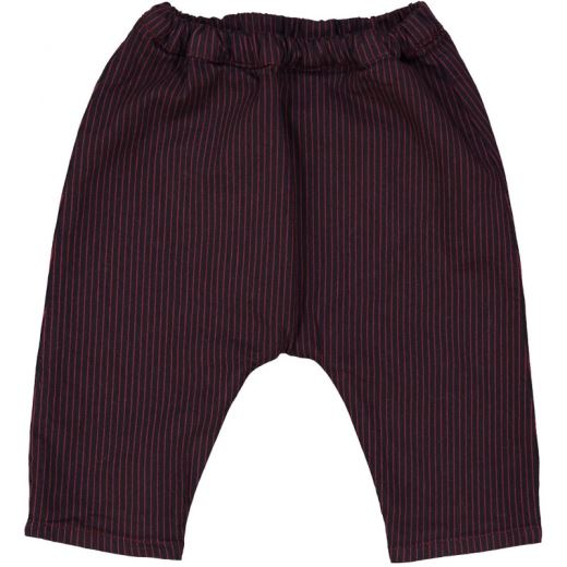 PANTALON JUNGLE - DENIM RAYÉ BORDEAUX